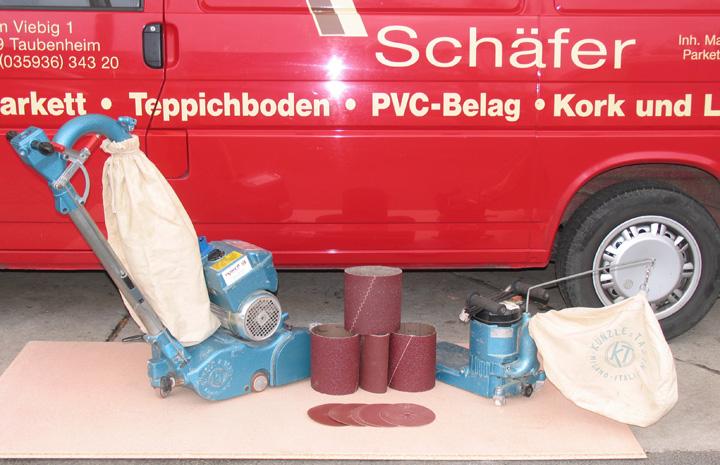 Schleifmaschinenverleih und Verkauf von Schleifmitteln, Versiegelungslacken, Öl/Wachs und Pflegemitteln - Parkett Schäfer Sohland